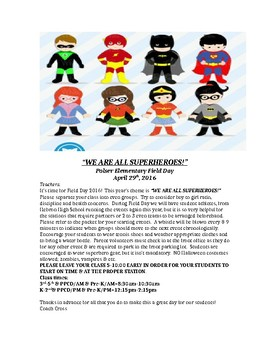 superhero themed field day for elementary