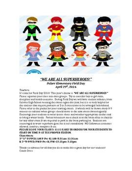 2c72b063b superhero themed field day for elementary by angela cross | TpT