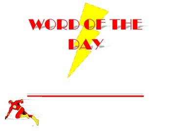 superhero word of the day