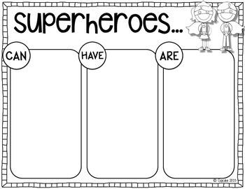 Superheroes! {Craftivity & Printables}