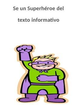 superheroes del texto informativo