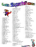 superheroes vocab (spanish)