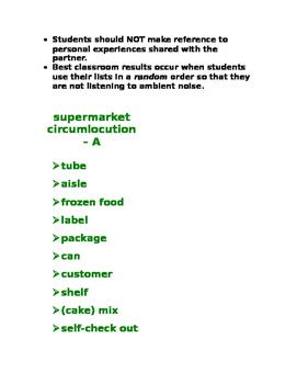 supermarket circumlocution SPANISH
