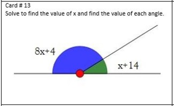 supplementary angles, solve for x