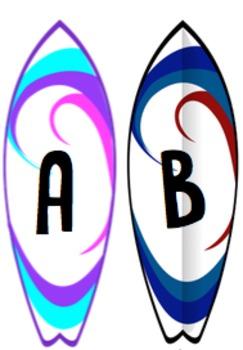 surfboard alphabet