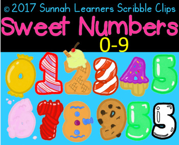 sweet number Clip Art . Numbers 0-9