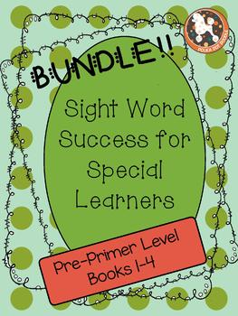 Sight Word Success BUNDLE... PRE-PRIMER SETS 1-4 (Dolch Words)