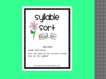 syllable sort lesson