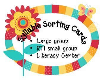 syllable sorting activity cards set 2