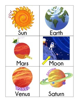 syllable sorting: solar system theme