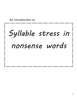 syllable stress practice to improve ESL accents