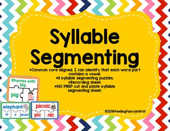 syllables- syllable segmenting