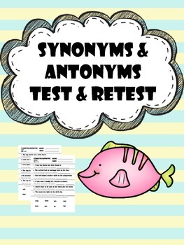 synonym and antonym test and retest