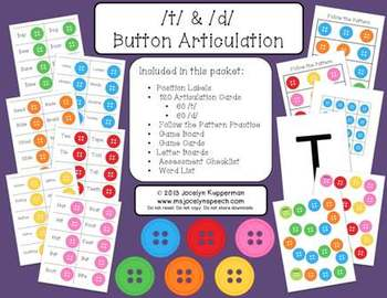 /t/ & /d/ Button Articulation