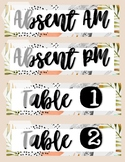 table numbers Trendy Desert Theme