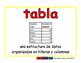 table/tabla prim 2-way blue/rojo