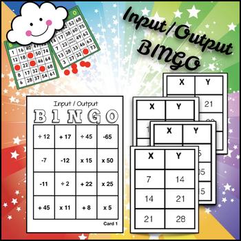 Math BINGO: Find the Rule --Input/Output Charts