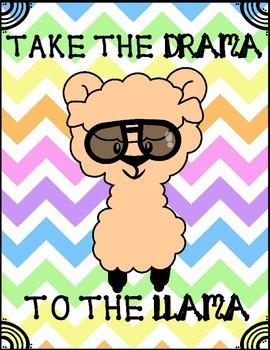 take the drama to the llama sign