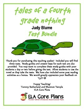 tales of a fourth grade nothing test bundle - two tests pl