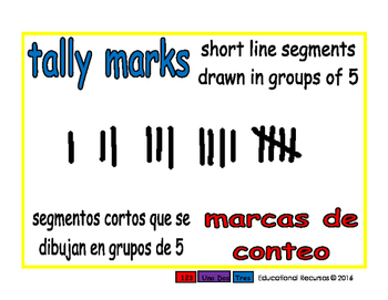 tally marks/marcas de conteo prim 1-way blue/rojo