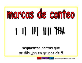 tally marks/marcas de conteo prim 2-way blue/rojo