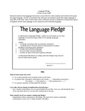 target language pledge (easily adaptable for any language)