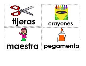 tarjetas de vocabulario/ word cards