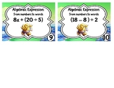task Cards: Algebraic Expressions to Words