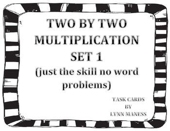 task cards:  2 by 2 multiplication problem