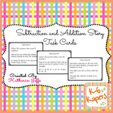 task cards subtraction and addition stories