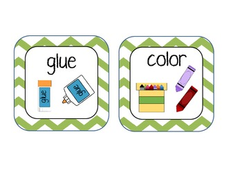 task cards with pictures, words, and numbers