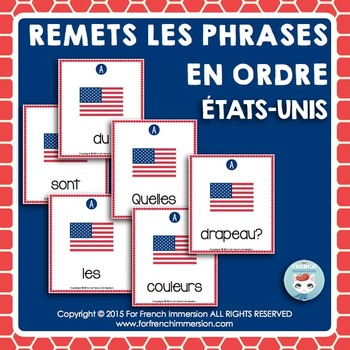 États-Unis FRENCH USA Sentence Builders
