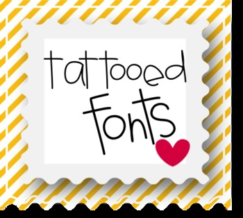 tattooed fonts for teachers