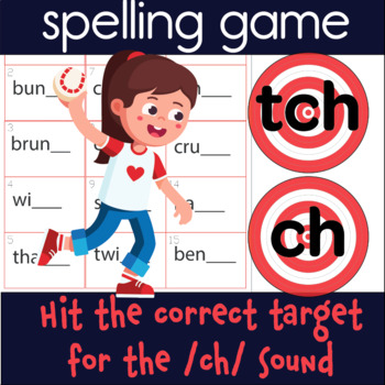 tch and ch OG sound spelling game (includes 60 practice words)