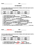 tch worksheet