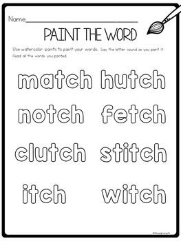 tch worksheets