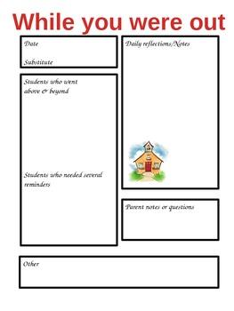 teacher absence form