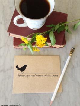 teacher gift, self inking custom stamp, teacher stamp