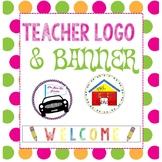 teacher logo and banner custom logo TPT logo
