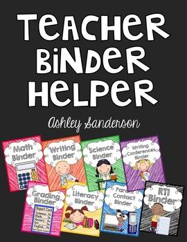 Teacher Binder Helper {editable}
