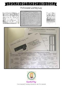 teacher registration board (TRB) professional learning log.
