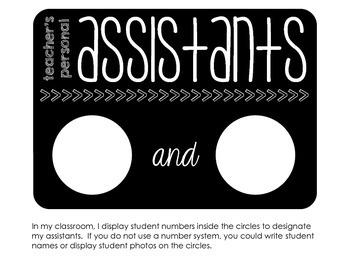teacher's personal assistants
