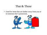 teaching demonstrative adjectives