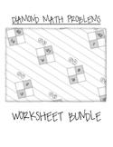 Math Diamond Problems Worksheet Bundle (Factoring Trinomia