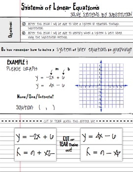 Substitution Method Systems of Linear Equations - Math Notes Algebra