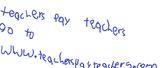 techers pay teachers poster