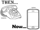 technology-then and now phone