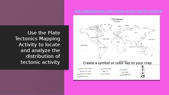 Tectonic Plates Map Coloring Activity