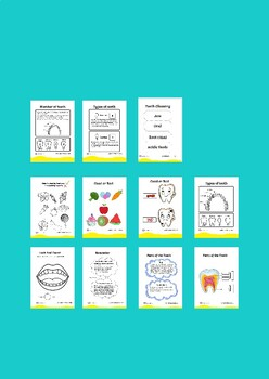 teeth brushing healthy food worksheets