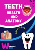 Teeth brushing healthy food worksheets Teeth Activities De
